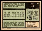 1971 O-Pee-Chee #194  Rick Ley  Back Thumbnail