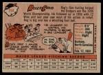 1958 Topps #194  Roger Craig  Back Thumbnail