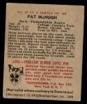1948 Bowman #25  Pat McHugh  Back Thumbnail