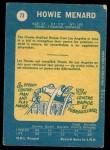 1969 O-Pee-Chee #73  Howie Menard  Back Thumbnail