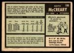 1971 O-Pee-Chee #188  Keith McCreary  Back Thumbnail