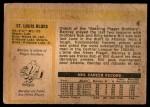1972 O-Pee-Chee #35  Barclay Plager  Back Thumbnail