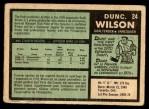 1971 O-Pee-Chee #24  Dunc Wilson  Back Thumbnail