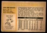 1972 O-Pee-Chee #12  Jean Ratelle  Back Thumbnail