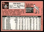 1969 Topps #104  Steve Blass  Back Thumbnail