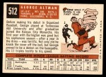 1959 Topps #512  George Altman  Back Thumbnail