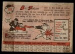 1958 Topps #389  Bill Taylor  Back Thumbnail