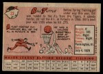 1958 Topps #23 YN Bill Tuttle  Back Thumbnail