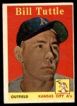 1958 Topps #23 YN Bill Tuttle  Front Thumbnail