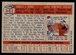 1957 Topps #341  Don Gross  Back Thumbnail