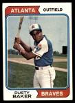 1974 Topps #320  Dusty Baker  Front Thumbnail