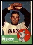 1963 Topps #50  Bill Pierce  Front Thumbnail