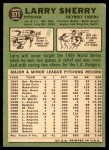 1967 Topps #571  Larry Sherry  Back Thumbnail