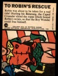 1966 Topps Batman Blue Bat Puzzle Back #11   To Robin's Rescue Back Thumbnail