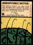 1966 Topps Batman Blue Bat Puzzle Back #42   Inhospitable Hatter! Back Thumbnail