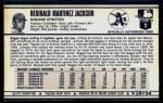 1972 Kellogg's #20  Reggie Jackson  Back Thumbnail