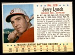 1963 Post Cereal #129  Jerry Lynch  Front Thumbnail