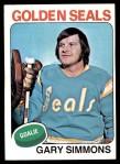 1975 Topps #29  Gary Simmons   Front Thumbnail