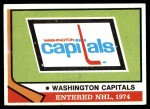1974 Topps #256   Capitals Team Front Thumbnail
