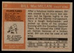 1972 Topps #77  Bill MacMillan  Back Thumbnail