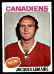 1975 Topps #258  Jacques Lemaire   Front Thumbnail