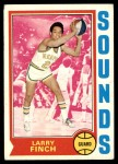 1974 Topps #215  Larry Finch  Front Thumbnail