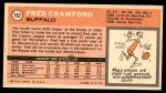 1970 Topps #162  Fred Crawford   Back Thumbnail