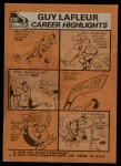 1975 Topps #290   -  Guy Lafleur  First Team All-Stars Back Thumbnail