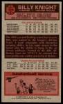 1976 Topps #124  Billy Knight  Back Thumbnail