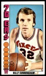 1976 Topps #93  Billy Cunningham  Front Thumbnail