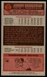 1976 Topps #11  Junior Bridgeman  Back Thumbnail