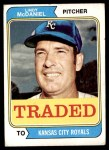 1974 Topps Traded #182 T  -  Lindy McDaniel Traded Front Thumbnail