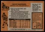 1975 Topps #119  Dave Gardner   Back Thumbnail
