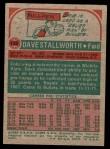 1973 Topps #133  Dave Stallworth  Back Thumbnail