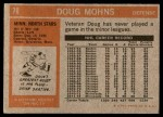 1972 Topps #78  Doug Mohns  Back Thumbnail