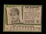 1971 Topps #735  Mike Shannon  Back Thumbnail