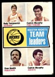 1974 Topps #88   -  Rudy Tomjanovich / Calvin Murphy / Don Smith Rockets Team Leaders Front Thumbnail
