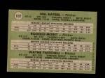 1971 Topps #692   -  Wayne Twitchell / Rogelio Moret / Hal Haydel  AL Rookies - Pitchers Back Thumbnail