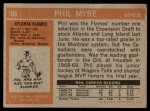 1972 Topps #109  Phil Myre  Back Thumbnail