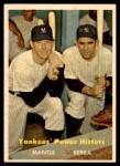 1957 Topps #407   -  Mickey Mantle / Yogi Berra Yankees' Power Hitters Front Thumbnail