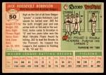 1955 Topps #50 FUL Jackie Robinson  Back Thumbnail