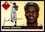 1955 Topps #50 FUL Jackie Robinson  Front Thumbnail