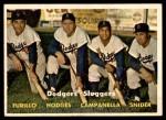 1957 Topps #400   -  Duke Snider / Roy  Campanella /  Carl Furillo / Gil Hodges Dodgers' Sluggers Front Thumbnail