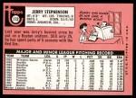 1969 Topps #172  Jerry Stephenson  Back Thumbnail