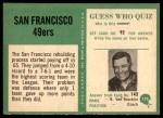 1966 Philadelphia #170   49ers Team Back Thumbnail