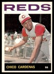 1964 Topps #72  Leo 'Chico' Cardenas  Front Thumbnail