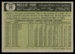 1961 Topps #30  Nellie Fox  Back Thumbnail