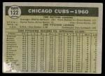 1961 Topps #122   Cubs Team Back Thumbnail