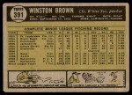 1961 Topps #391  Winston Brown  Back Thumbnail