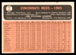 1966 Topps #59   Reds Team Back Thumbnail